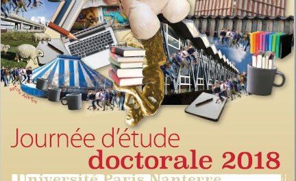 «Journée d'étude doctorale 2018»