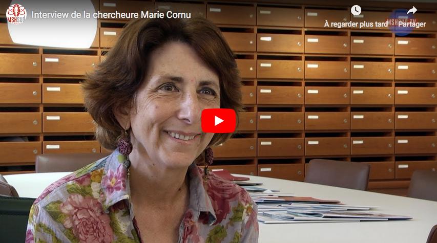 Entretien avec Marie Cornu dans le cadre de l'équipe-projet MSH Sud CommonData