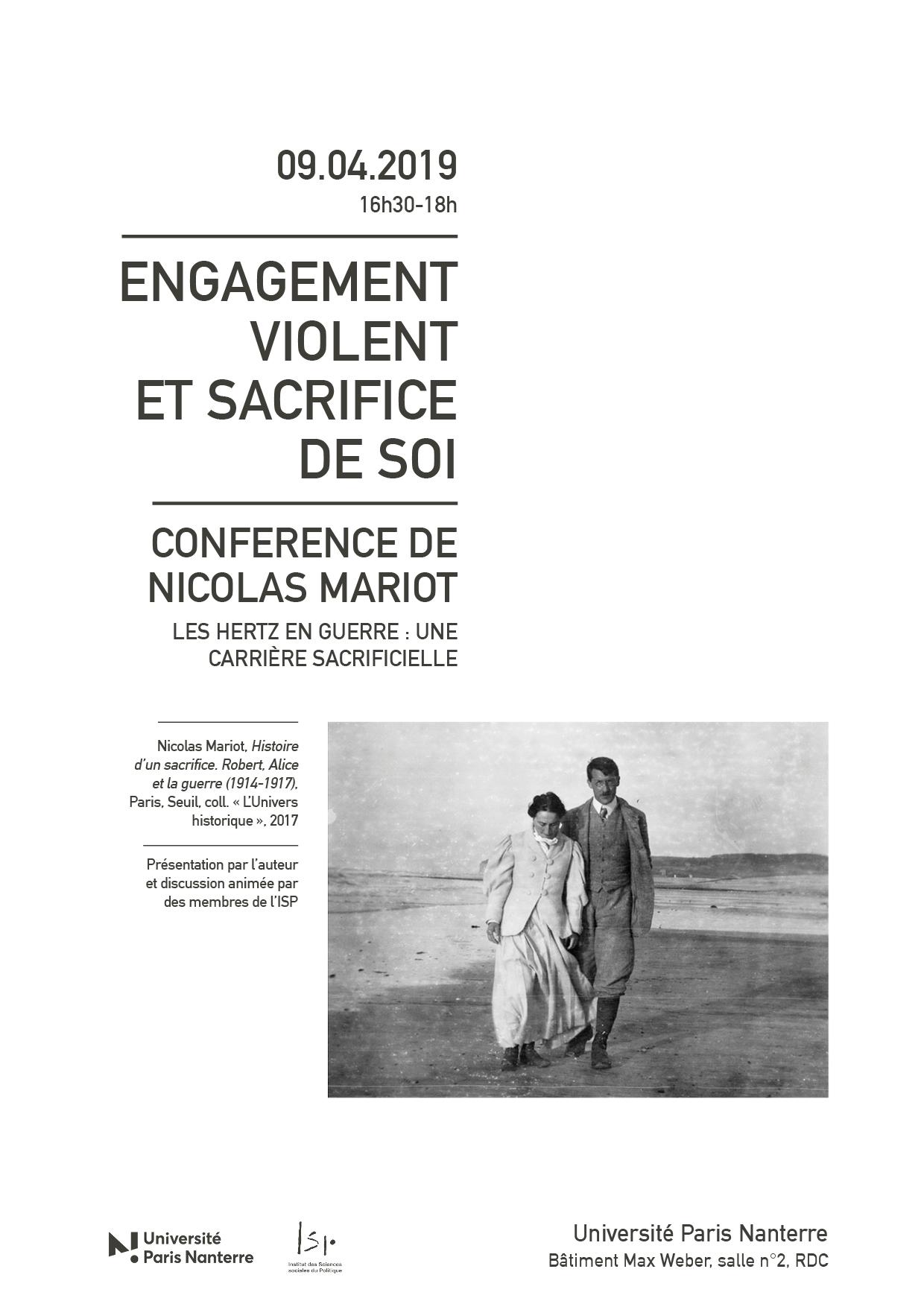 «Engagement violent et sacrifice de soi»