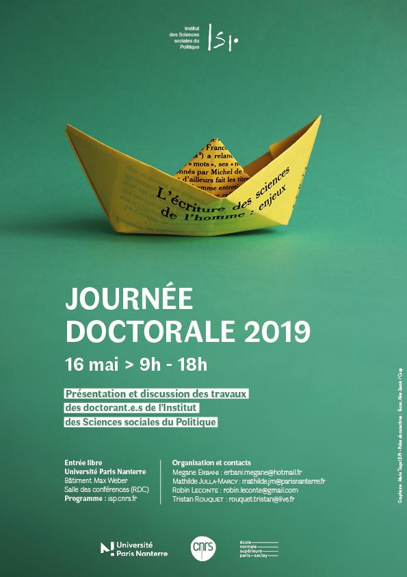 «Journée doctorale 2019»
