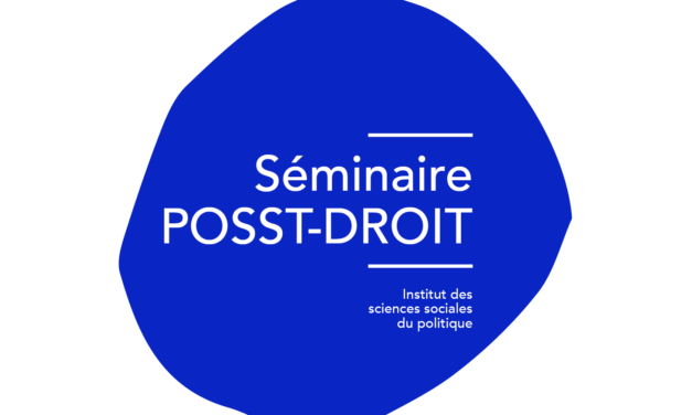 Prochaines séances du séminaire PoSST-Droit
