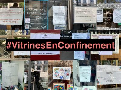 Vitrines en confinement / Défi collaboratif « Nos vitrines parlent à l'heure du confinement »