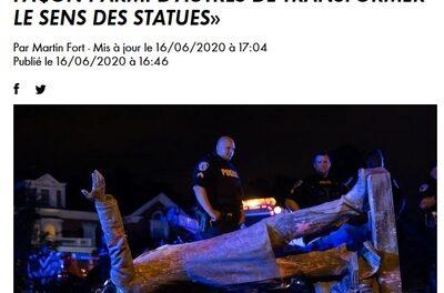 «Le déboulonnage est une façon parmi d'autres de transformer le sens des statues» / entretien avec Sarah Gensburger sur  CNEWS