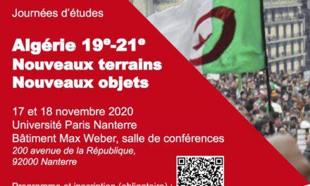 «Algérie 19e-21e. Nouveaux terrains, nouveaux objets»