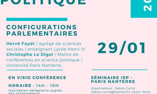 «Configurations parlementaires» / Hervé Fayat, Christophe Le Digol