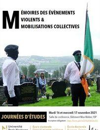 « Mémoires des évènements violents et mobilisations collectives »